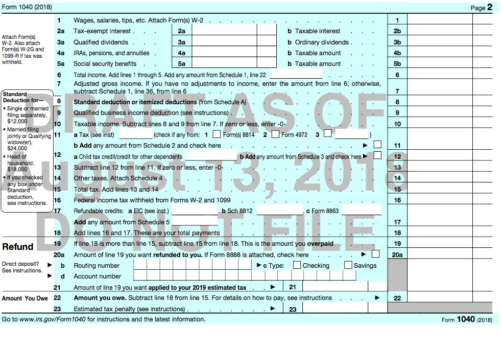 1040 Form 2017 Page 2 >> What Tax Form Should I Use 2018 Tax Year Taxes Are Easy